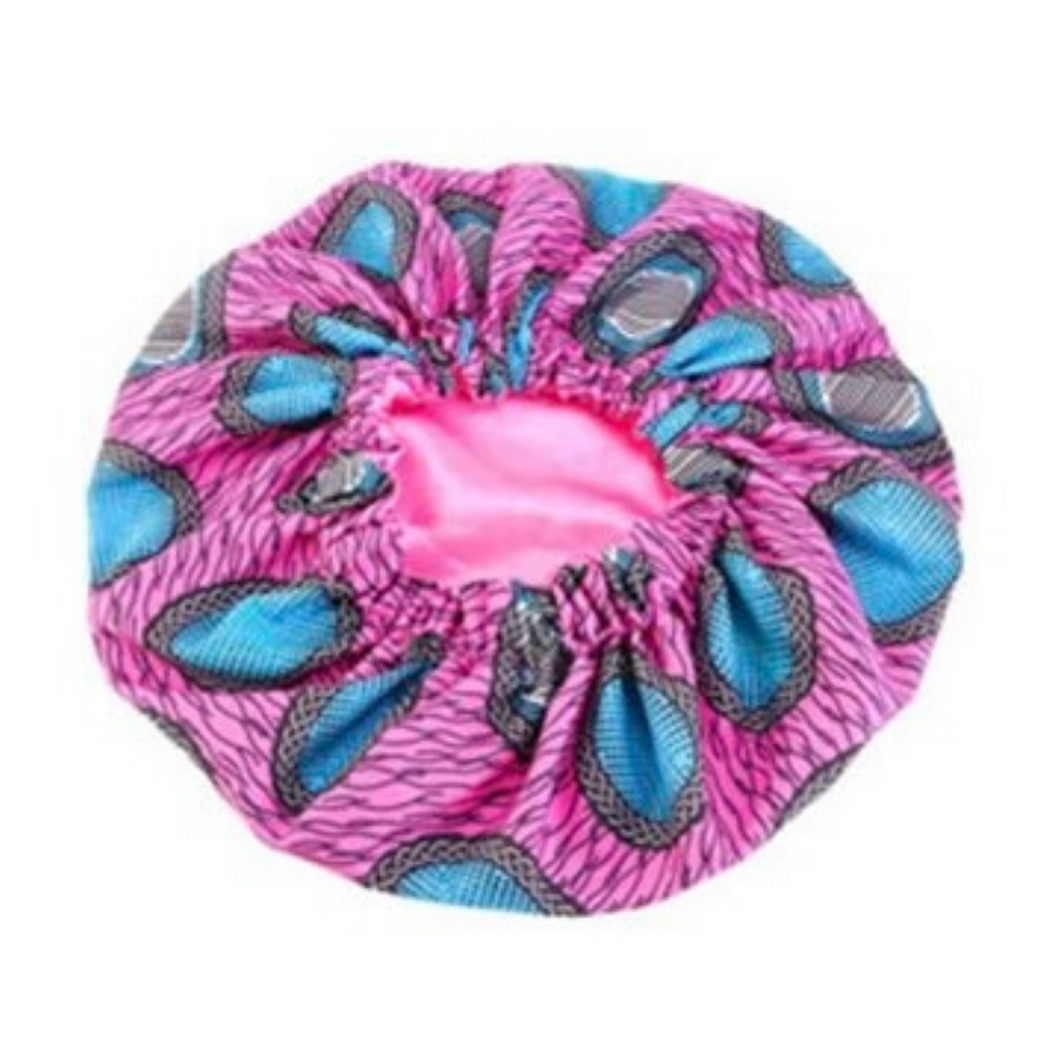 Mega Hair Pink Satin Bonnet (It's Reversible)