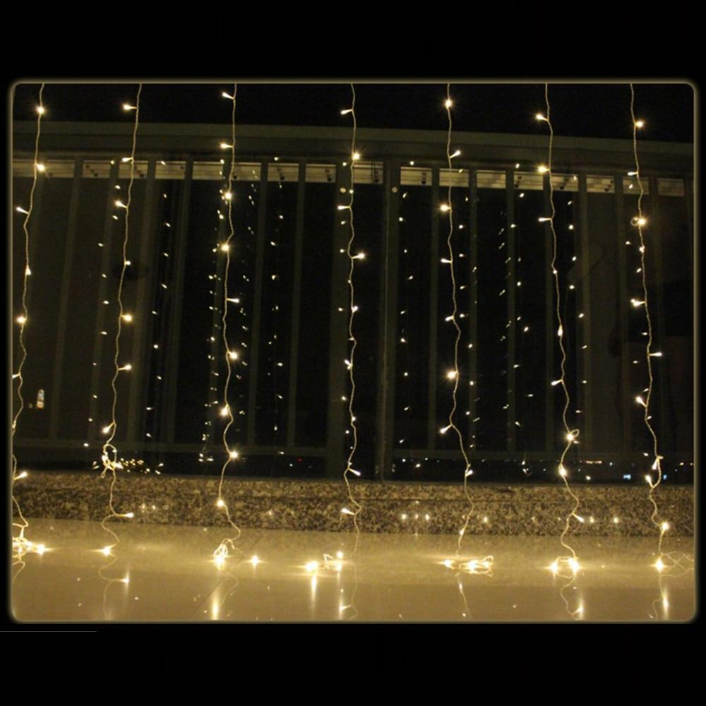 3x1/3x3/6x3m LED Icicle String Lights Christmas Fairy Lights garland Outdoor Home For Wedding/Party/Curtain/Garden Decoration - Maverick Mall