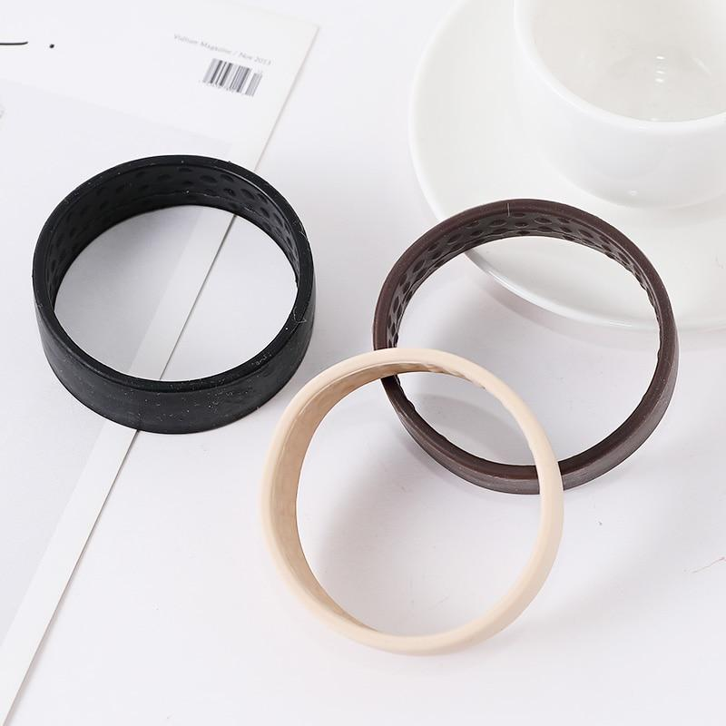 New Women Silicone Foldable Stationarity Elastic Hair Bands Ponytail Holder Tools Simple Multifunction Fashion Hair Accessories - Maverick Mall