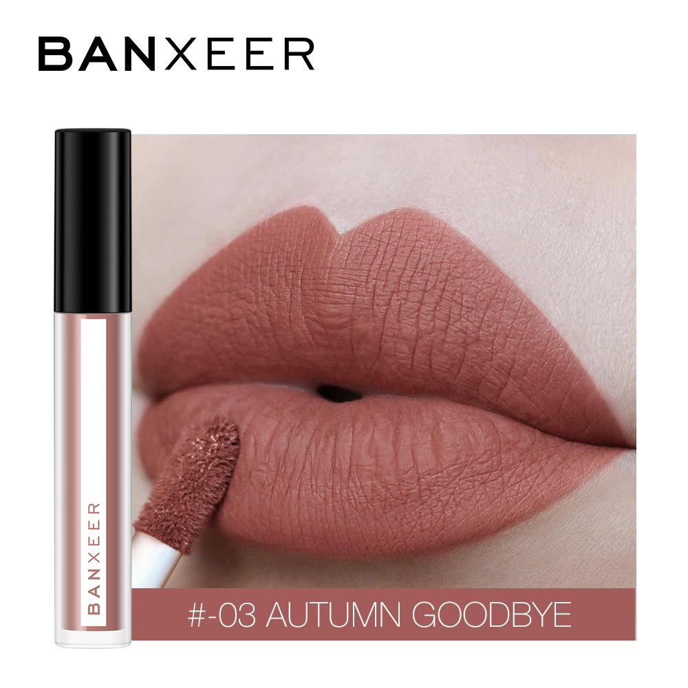 BANXEER Lipgloss Matte 8 Colors Lip Gloss Velvety Lipstick Liquid Matte Waterproof Lip Tint Full & rich Sexy Lip Makeup Cosmetic - Maverick Mall