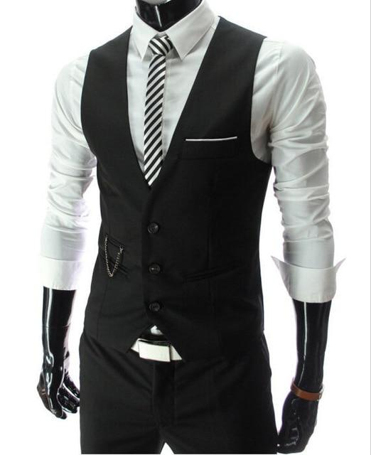 New Style Dress Vests For Men Slim Fit Mens Suit Vest Male Waistcoat- Maverick Mall