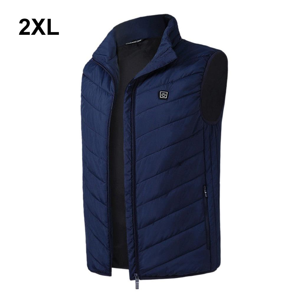 2019 Outdoor Men Electric Heated Vest USB Heating Vest Winter Thermal Cloth Feather Hot Sale Camping Hiking Warm Hunting Jacket - Maverick Mall