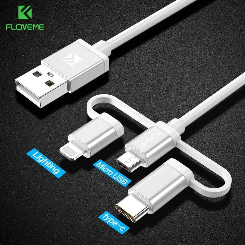 3 in 1 Charging Cable Micro Usb Type C- Maverick Mall