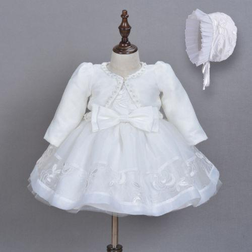 3pcs Baby Girls Princess Dress Lace Christening Wedding Party Dresses Clothes US - Maverick Mall