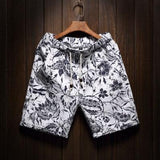 9 Color Men's Casual Beach Floral Shorts 2019 New Summer Fashion Straight Cotton Linen Bermuda Hawaiian Short Pants Male Brand - Maverick Mall