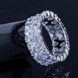 Super Sparkling Silver Wedding Engagement Rings Jewelry For Women- Maverick Mall