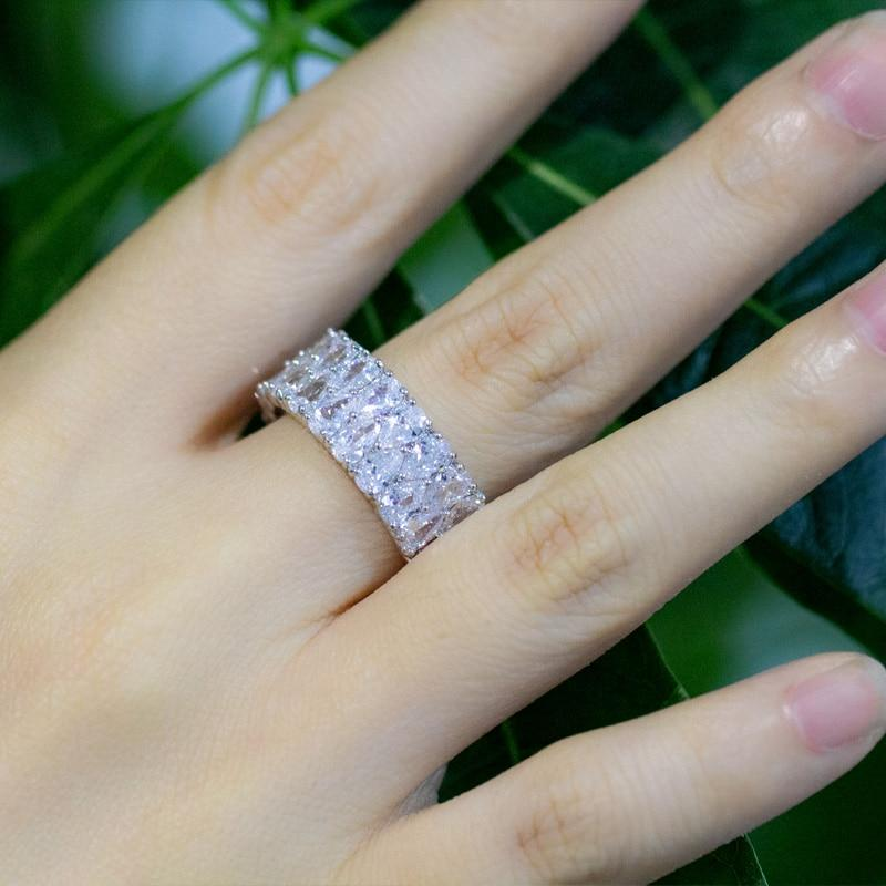 Super Sparkling Silver Wedding Engagement Rings Jewelry For Women - Maverick Mall