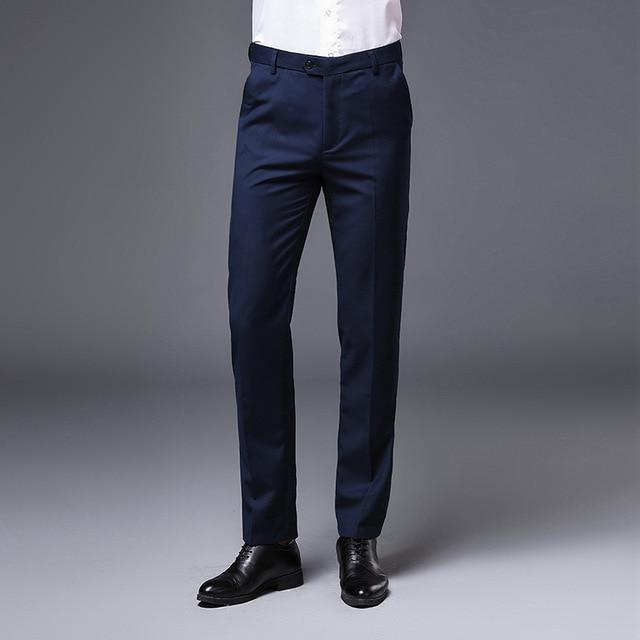 AIRGRACIAS High Quality Men Pants Straight Spring Summer Long Male Classic Business Casual Trousers Men Full Length Size 28-40- Maverick Mall