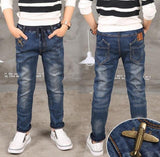 Boy Jeans Limited Loose Solid Casual For Autumn Boys Jeans , Children's Fashion Jeans, for age 3 4 5 6 7 8 9 10 11 12 13 14 year - Maverick Mall