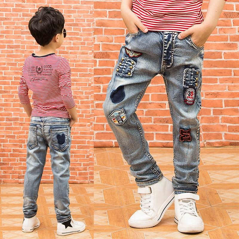 Children's clothing boys jeans 2019 autumn new children's pants big boys trousers stretch jeans fashion- Maverick Mall
