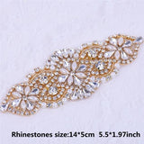 Crystal Wedding Belt Pearl Bridal Belt Rhinestones Sash For Bridal Accessories Silver Gold and Rose Gold Only Applique NZUK - Maverick Mall