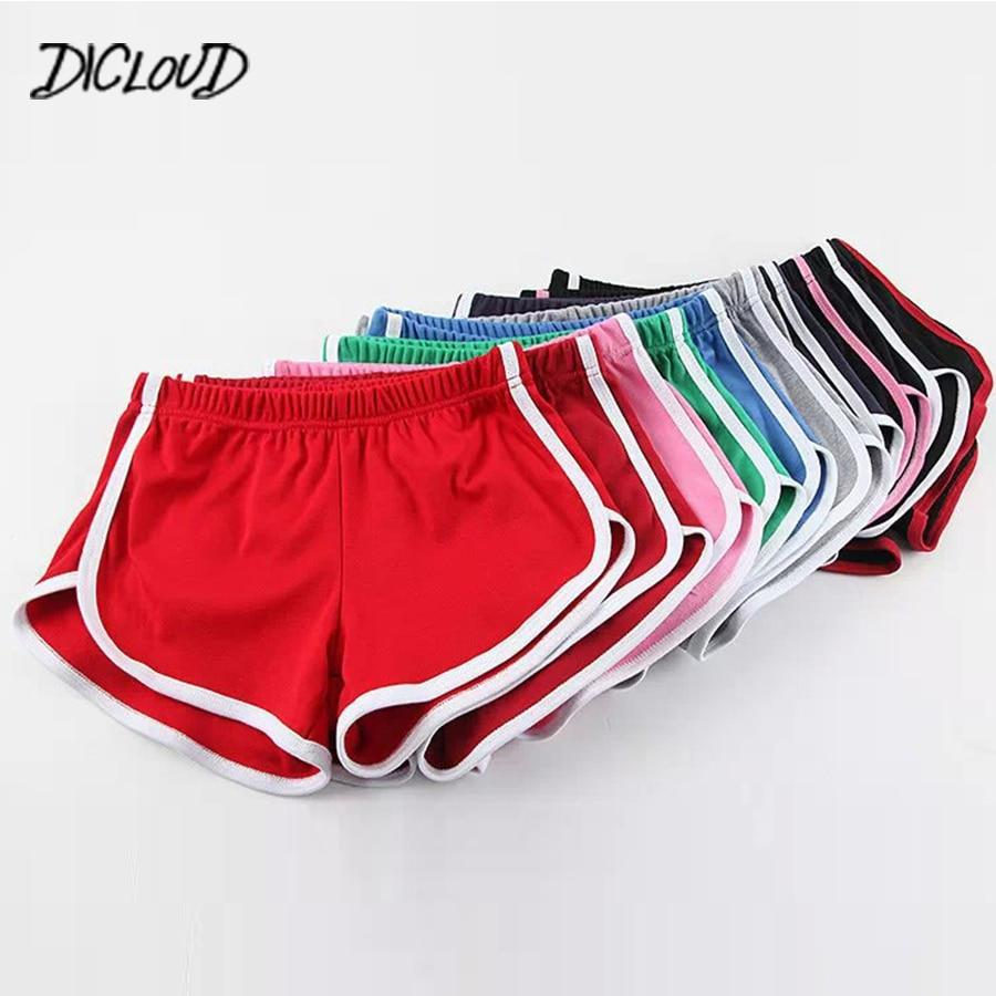 DICLOUD Fashion Stretch Waist Casual Shorts Woman 2018 High Waist Black White Shorts Harajuku Beach Sexy Short Women'S Clothing- Maverick Mall