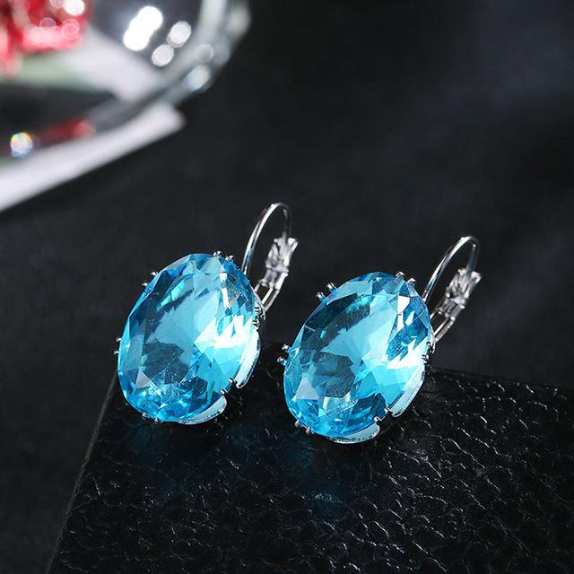 Women Fashion Crystal Earrings- Maverick Mall