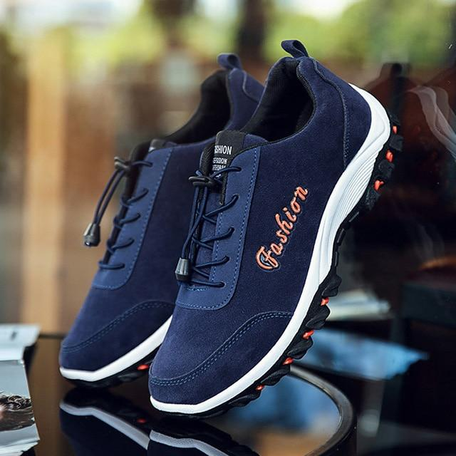 Fashion Men Casual Shoes Comfortable Handmade Canvas Shoes For Male Outdoor Hiking Shoes Men Sneakers New Men Vulcanize Shoes- Maverick Mall