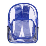 Fashion Women Transparent PVC Clear Backpack Travel Shoulder Bag School Bookbags- Maverick Mall