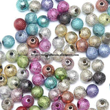 Free Shipping Mixed Stardust Acrylic Round Ball Spacer Beads Charms Findings 4 6 8 10 12 MM Pick Size For Jewelry Making AC1 - Maverick Mall