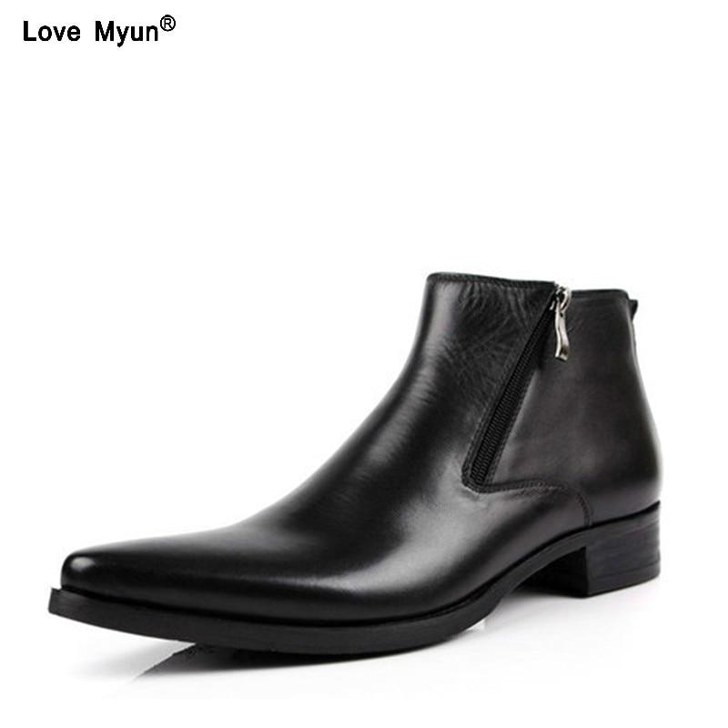 Genuine Cow Leather Boots - Maverick Mall