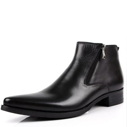 Genuine Cow Leather Boots- Maverick Mall