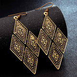 Antique Drop Long Earrings for Women
