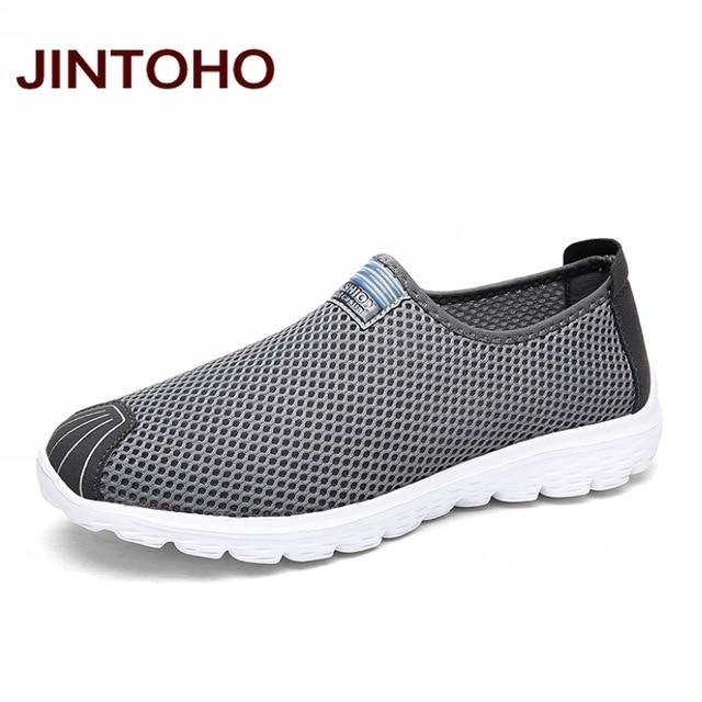 JINTOHO Unisex Summer Breathable Mesh Men Shoes Lightweight Men Flats Fashion Casual Male Shoes Brand Designer Men Loafers - Maverick Mall