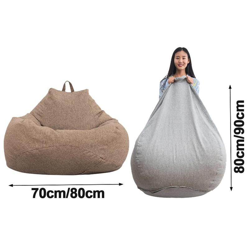Lazy BeanBag Sofas Inner Lining Waterproof Stuffed Animal Storage Toy Bean Bag Without Cover Chair Beanbag Sofas Lining OnlySpec- Maverick Mall