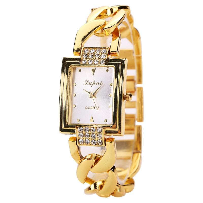 lvpai Women's Watches Top Brand Luxury Gold Bracelet Watch Women Watches Rhinestone Ladies Watch Clock reloj mujer montre femme- Maverick Mall