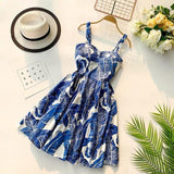 Marwin 2019 New Off shoulder ruffle Dot summer Dress women white strap chiffon beach Boho party sexy dresses vestido furits - Maverick Mall