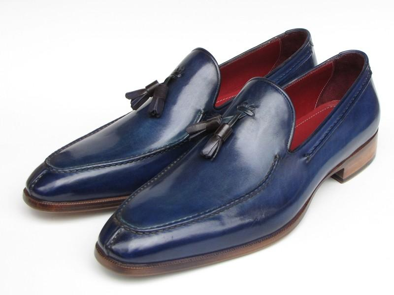 Paul Parkman Men's Tassel Loafer Blue Leather (ID#083-BLU) - Maverick Mall