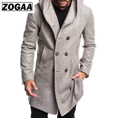Fashion Mens Trench Coat Jacket - Maverick Mall
