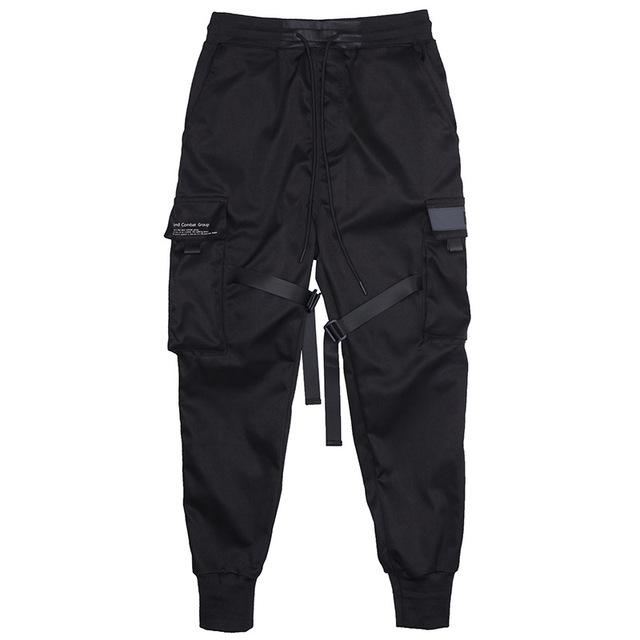 Men Multi-pocket Elastic Waist Design Harem Pant - Maverick Mall