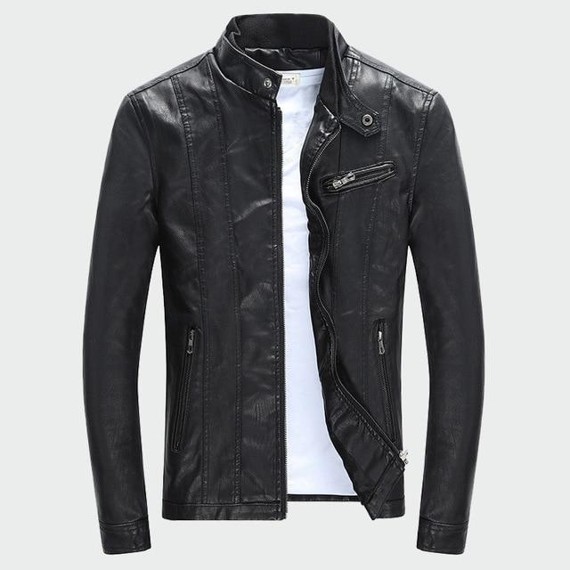 Men's PU Jackets Coats Autumn Winter - Maverick Mall