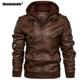 Mountainskin 2019 New Men's Leather Jackets Autumn