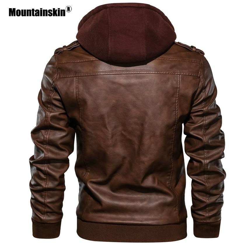 Mountainskin 2019 New Men's Leather Jackets Autumn - Maverick Mall