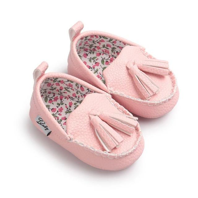 Moccasin First Walkers Newborn Baby Shoes Toddler Prewalker Shoes Baby Boy Girl Pu Tassel pendant Leather Shoes- Maverick Mall