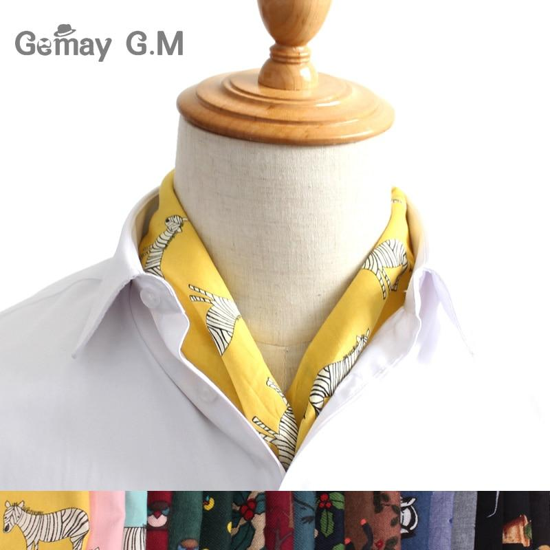 New Print Scarf British Style Spring Autumn Cotton Scarves For Men Women Luxury Pocket Square Shawl for Party Hanky Handkerchief- Maverick Mall