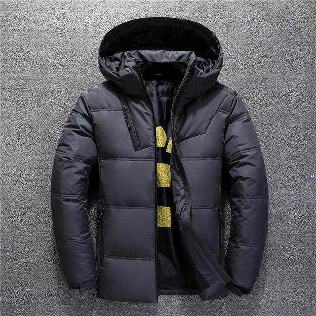 New Winter Jacket Men High Quality Fashion Casual Coat Hood Thick Warm Waterproof Down Jacket Male Winter Parkas Outerwear - Maverick Mall