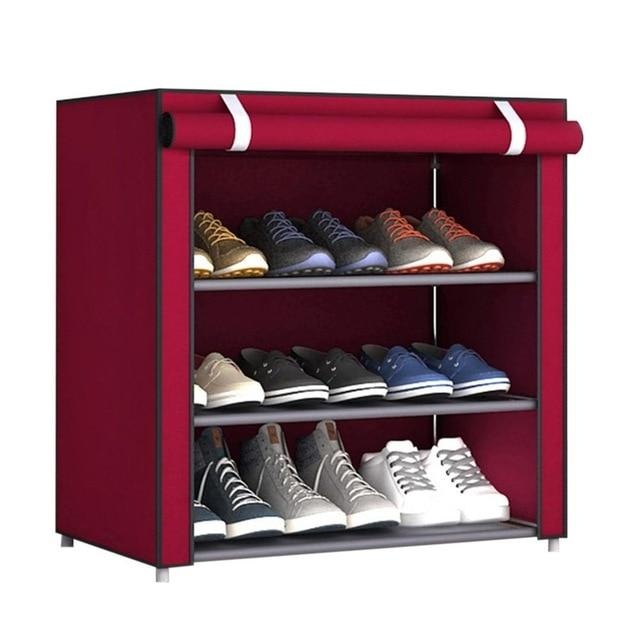 Nonwoven Fabric Simple Shoes Rack Close to the Door Detachable Shoes Organizer Closet Storage Living Room Dustproof Shoe Shelf- Maverick Mall