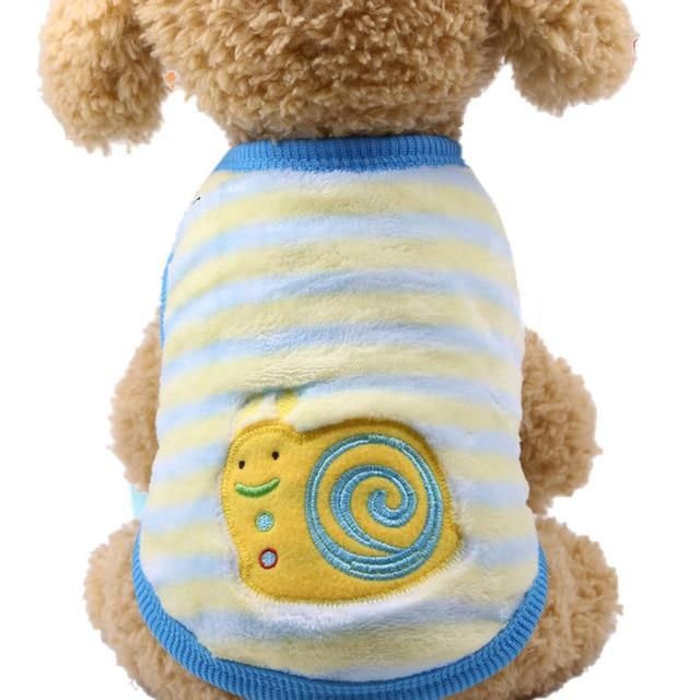 Puppy Vest Clothing with Multi Colored Cartoons - Maverick Mall