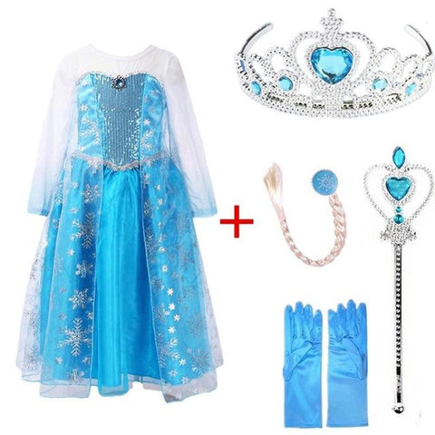Snow Queen Elsa Dresses Frozen Princess- Maverick Mall