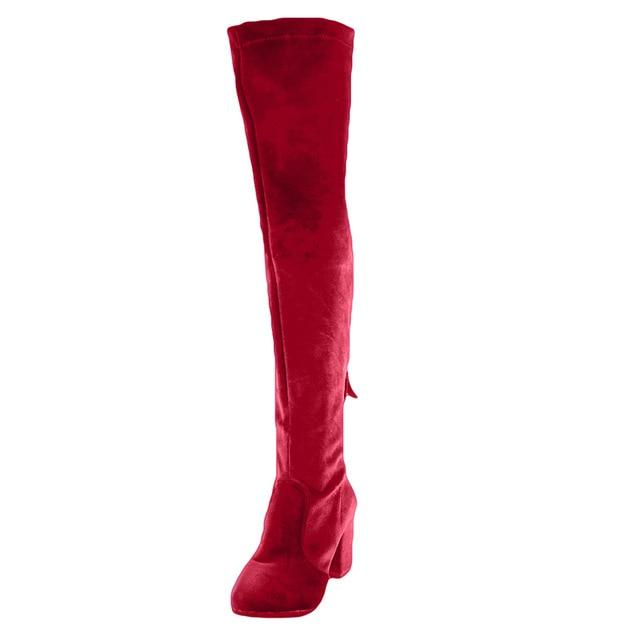 Square High Heels Slim Boots For Fashion Women - Maverick Mall