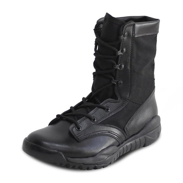 Summer Men's Ultra Light Breathable Combat Boots Commando Outdoor Desert Tactical Boots Military Boots- Maverick Mall