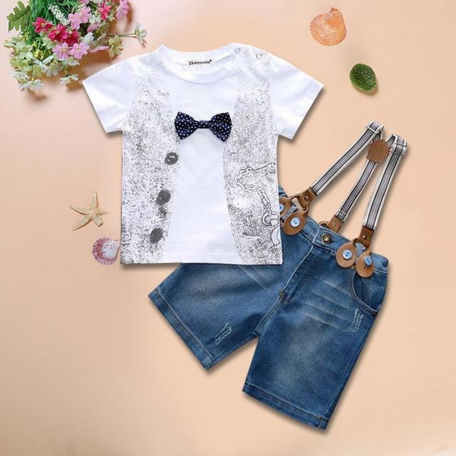 Toddler Boy Clothes Summer Children Clothing Boys Sets Costume For Kids Clothes Sets T-shirt+Jeans Sport Suits 2 3 4 5 6 7 Years- Maverick Mall