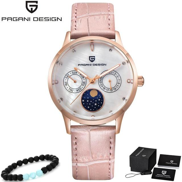 Top Luxury Brand PAGANI DESIGN Gold Watch Women Watches Ladies Creative Steel Leather Women's Bracelet Watches Female Clock - Maverick Mall