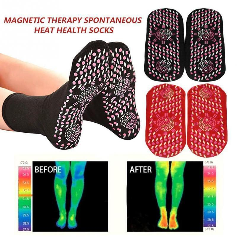 Tourmaline Self Heating Socks Women Men Winter Ski Fitness Thermal Sport Socks Comfort Breathable Magnetic Therapy Heated Socks - Maverick Mall