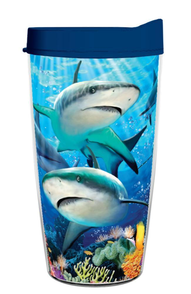 Shark Reef Wrap 16oz Tumbler - Maverick Mall