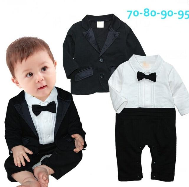Voguish Boutiqu newborn clothing set bebes baby boy clothes baby rompers+ coat with tie- Maverick Mall