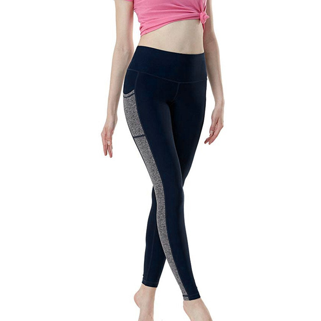 Women's Push Up Pencil Solid Pants- Maverick Mall