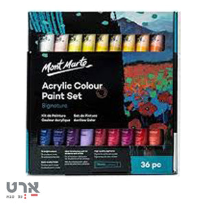 "סט אקריל 36 גוונים 36 מ""ל mont marte acrylic color paint set"