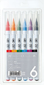 Zig Clean Color real brush סט 6 יח