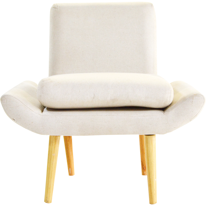 Kayla Linen Single Chair